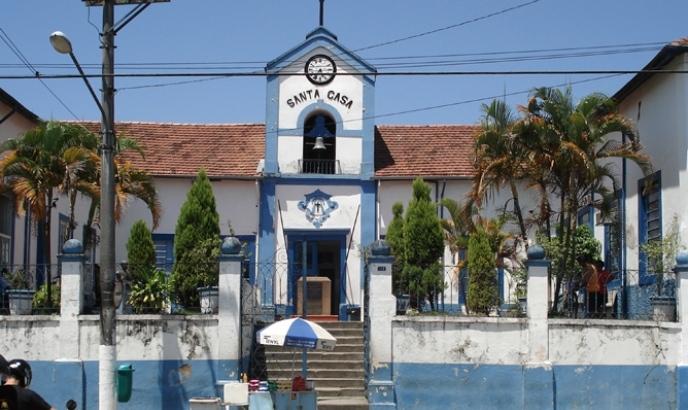 Fachada da Santa Casa de Jacareí. Foto: Divulgação.